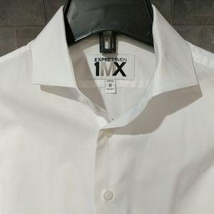 Express Men 1MX XS White Dress Shirt